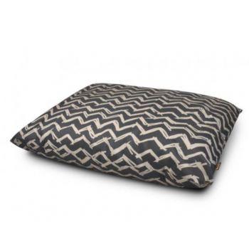 Outdoor Water Resistant Dog Bed Chevron Black Medium