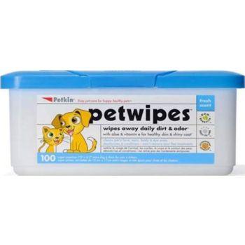 Petkin Pet Wipes 100pcs 19x17cm
