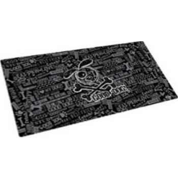 Dry Mate Pet Place Mate Dogs GOOD DOG CROSS BONES / BLACK 12 X 20 Inches