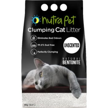 Nutrapet Natural White Compact Cat Litter 5KG