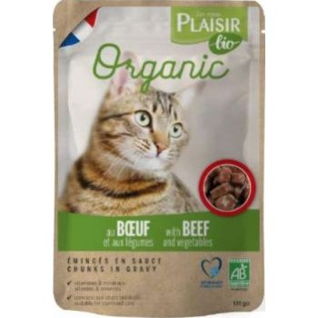 Plaisir Bio Complete Cat Food Chunks In Gravy With Beef And Vegetable, 100g