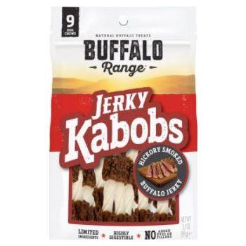 Buffalo Range Natural, Grain Free Jerky Kabob Rawhide Chews for Dogs 99G