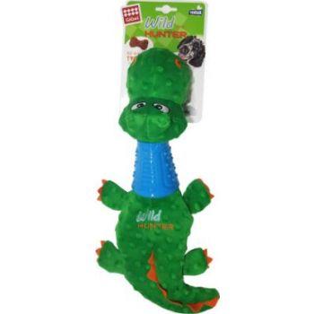 Crocodile Plush Dog toy with TPR Neck