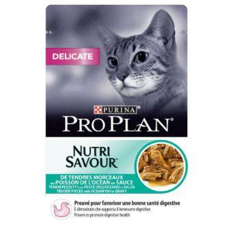 Pro Plan Nutri Savour Delicate Cat - Oceanfish in Gravy (85g)