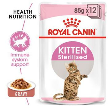 WET FOOD - Kitten Sterilised Gravy (pouches) 85g