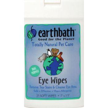 Earthbath Eye Wipes Hypoallergenic Fragrance Free 25 Pcs