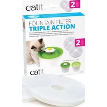 CATIT 2.0 TRIPLE ACTION FILTER - 2 PACK