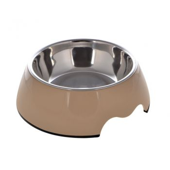 Nutrapet Melamine Round Bowl Brown XL:27 *9Cms 1400/ml47.2oz