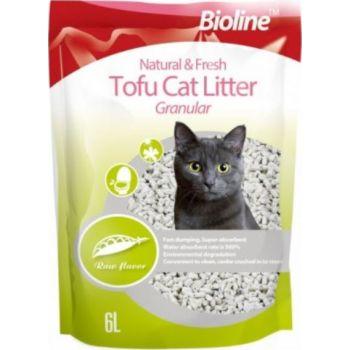Bioline Natural And Fresh Tofu Cat Litter Granular Raw Flavor[Flushable]-6L