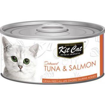 Kit Cat Wet Food TUNA & SALMON 80g