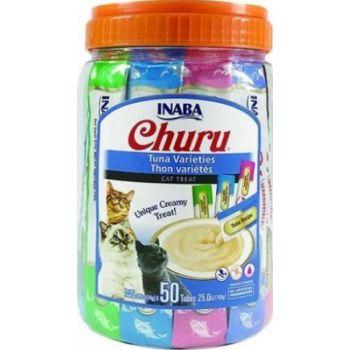 Inaba Churu Cat Tuna Varieties, 14g x 50 Tubes