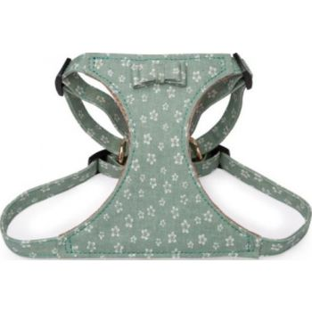 Pawsitiv Handmade Easy Walk Harness - Daisy (1723) - Green Medium