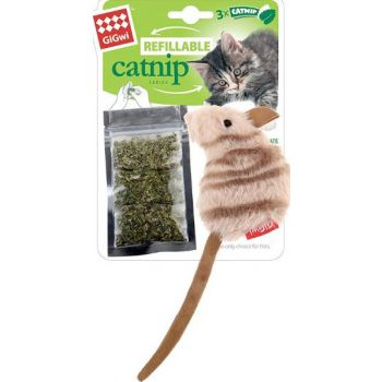 Cat Toys Mouse Fluffy Plush  with 3 Refillable Catnip Bags