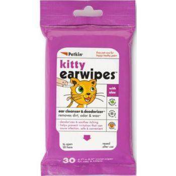 Petkin Kitty Ear Wipes 30ct