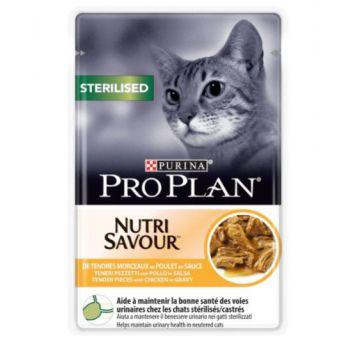 Pro Plan Nutri Savour Sterilised Cat - Chicken in Gravy (85g)