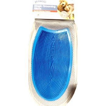 Pawise magic grooming glove pet glove blue