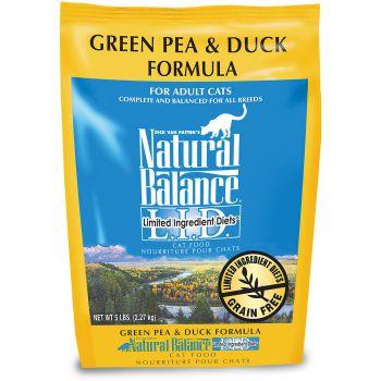 Natural Balance LID Green Peas & Duck Dry Cat Food, 5lb