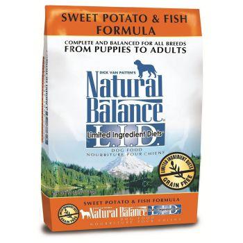 Natural Balance L.I.D. Sweet Potato & Fish Dry Dog Formula 26 lbs