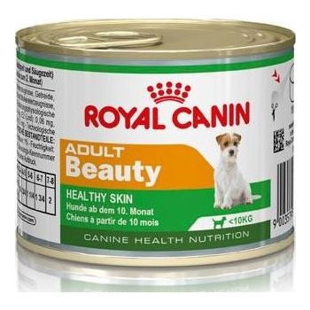 Royal Canin MINI ADULT BEAUTY Wet Dog Food (CANS) 12x195g