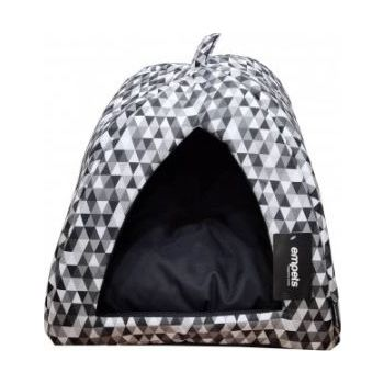 Empets Cat  House  With Cushion Black Pattern 34x34x27h (I01M)