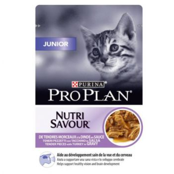 Pro Plan Nutri Savour Junior Cat -Turkey in Gravy (85g)