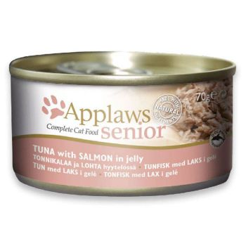 Applaws  Cat Wet Food Senior Tuna  With Salmon In Jelly 70G TIN