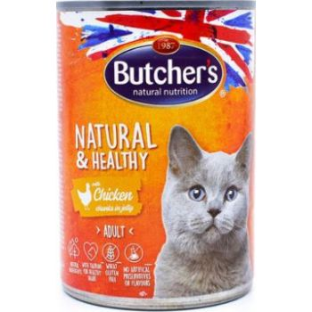 Butcher's Natural & Healthy Chicken Chunks In Jelly, 400g
